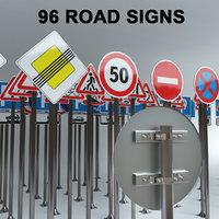 3D model 96 road signs