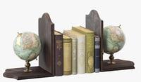 3D model globe bookends