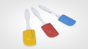cake silicone spatula 3D model
