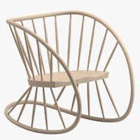 heal s rocking chair 3D
