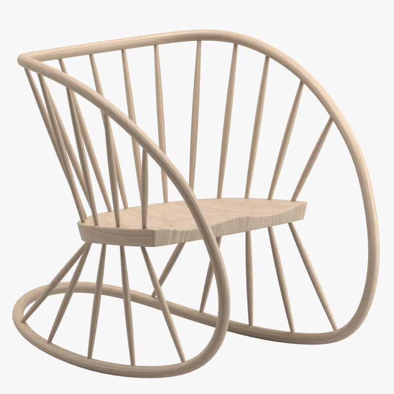 heal s rocking chair 3D