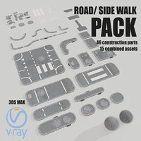 road asset pack 3D model