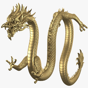 chinese dragon rig v1 3D model
