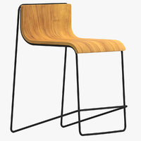 3D orio design stool model