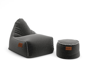 3D sack set drum beanbag model