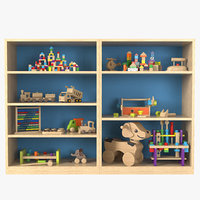 Toy Storage Cabinet With Toys