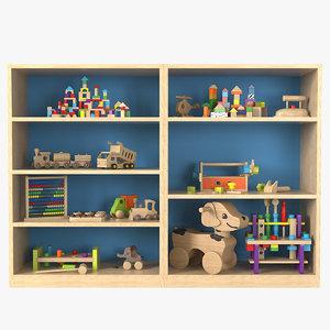 toy storage cabinet 3D model