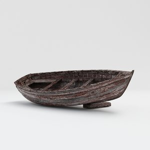 3D boat rowboat model