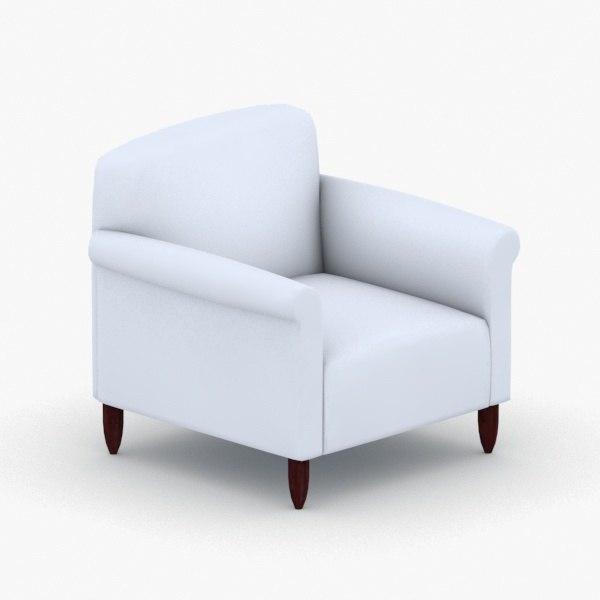 3D interior - armchair chair stool