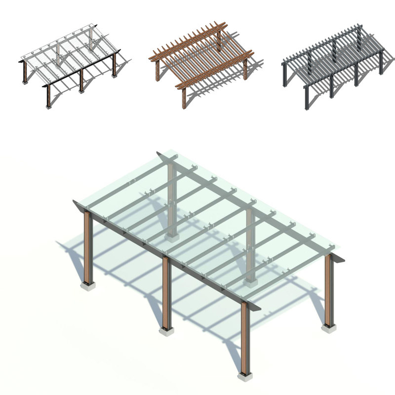 pergola - glass 3D model