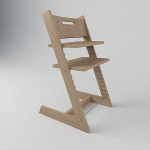 chair children 3D model