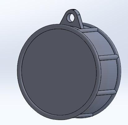 3D keychain printed drum