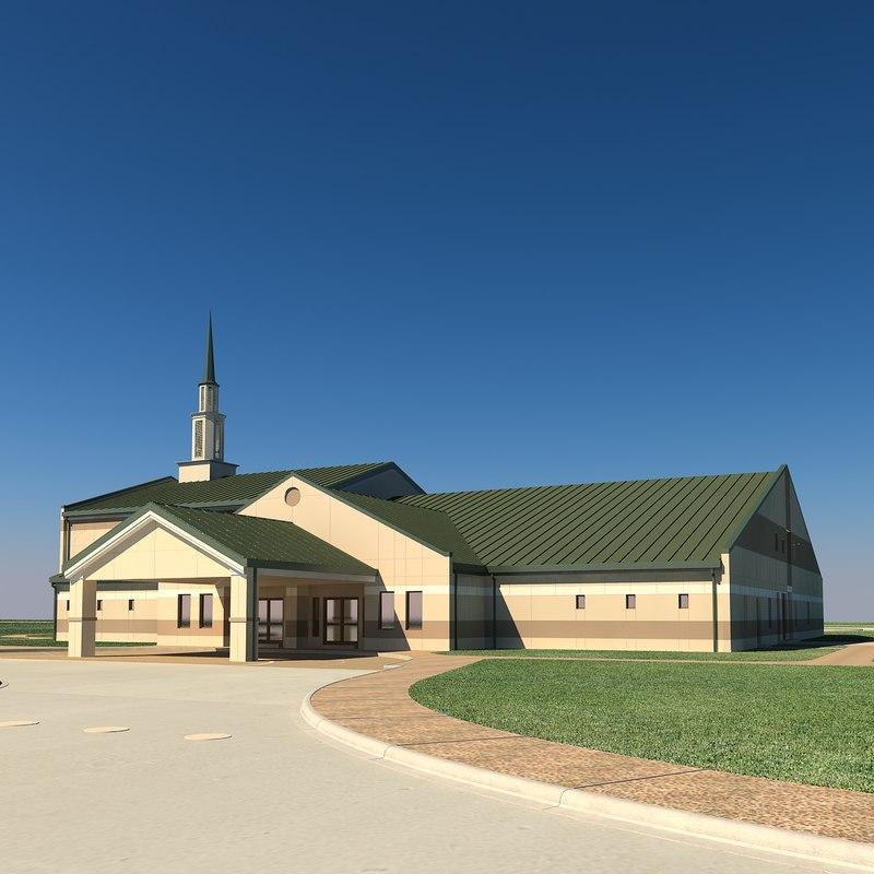 3D model chapel