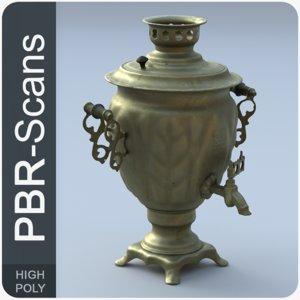 scans old tea-urn 3D model