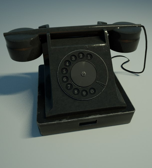 3D old phone model