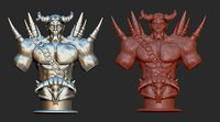Demon 3D model for printing