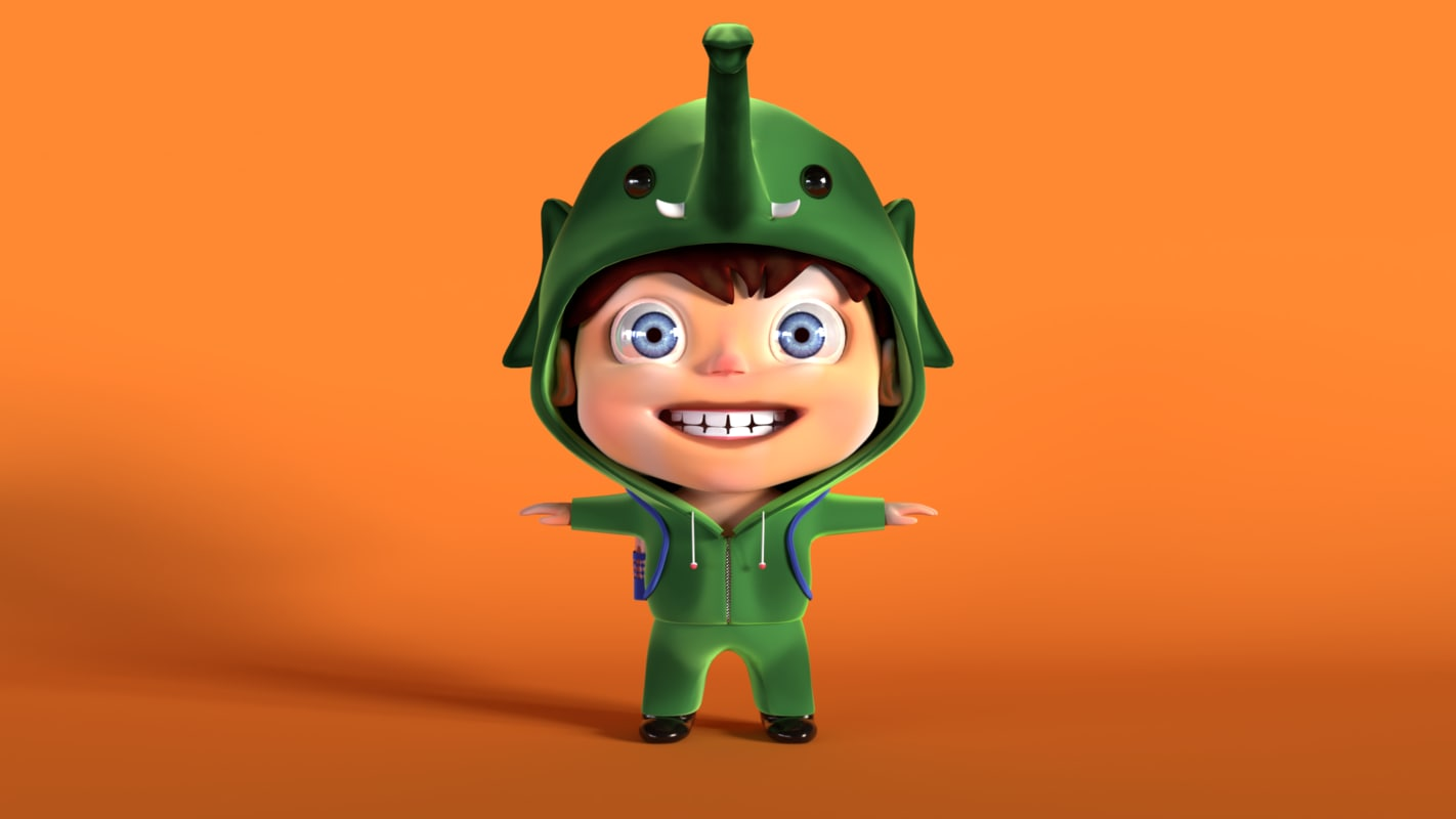 3D stylized character model