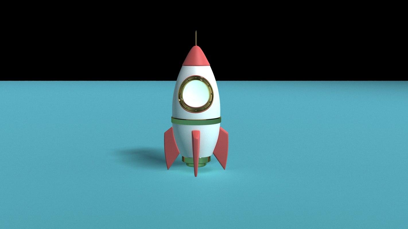 cohete cartoon 3D