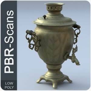 3D old tea-urn scans model