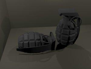 grenade low-poly 3D model