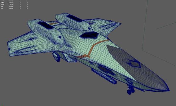 uav ucav excalibur 3D model
