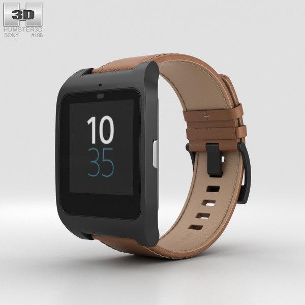 3D sony smartwatch smart