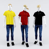 3D lacoste man mannequin model
