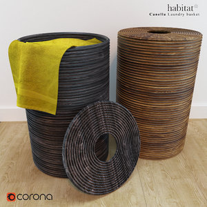 laundry basket habitat 3D