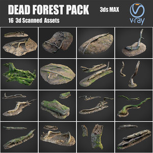 dead forest asset pack 3D model