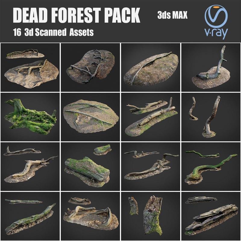 dead forest asset pack 3D model
