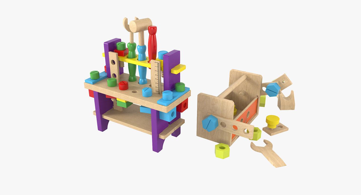 3D model baby building kits