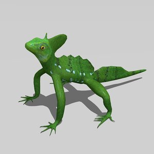 3D basilisk lizard model