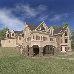 3D house architectural