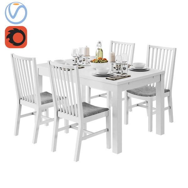 3d Table Bjursta Ikea Norrnas Turbosquid 1244693