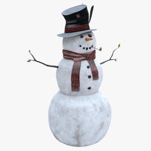 3D snowman pbr