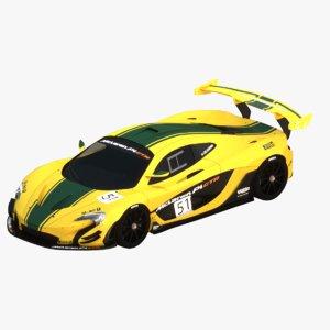 mclaren p1 gtr yellow 3D model
