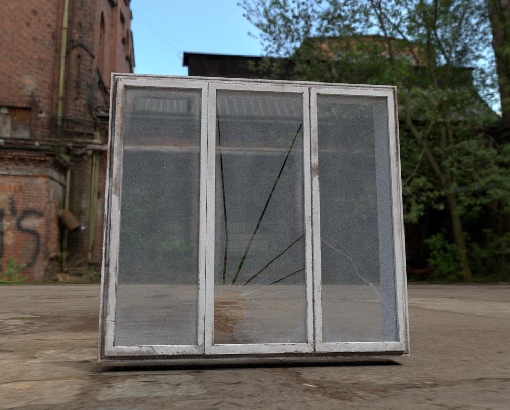 abandoned window 3D model