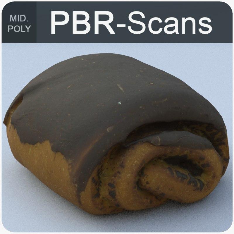 3D model chocolate roll