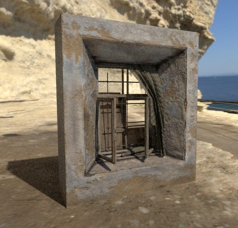 3D abandoned window model