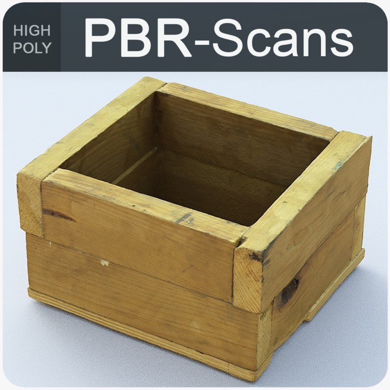 old wood box model