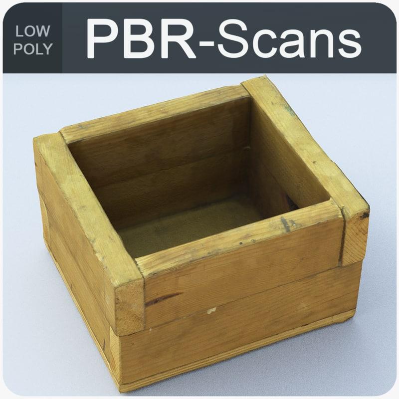 3D model homemade wood box