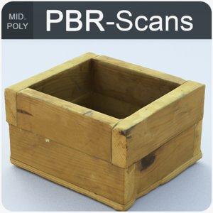 homemade wood box 3D model