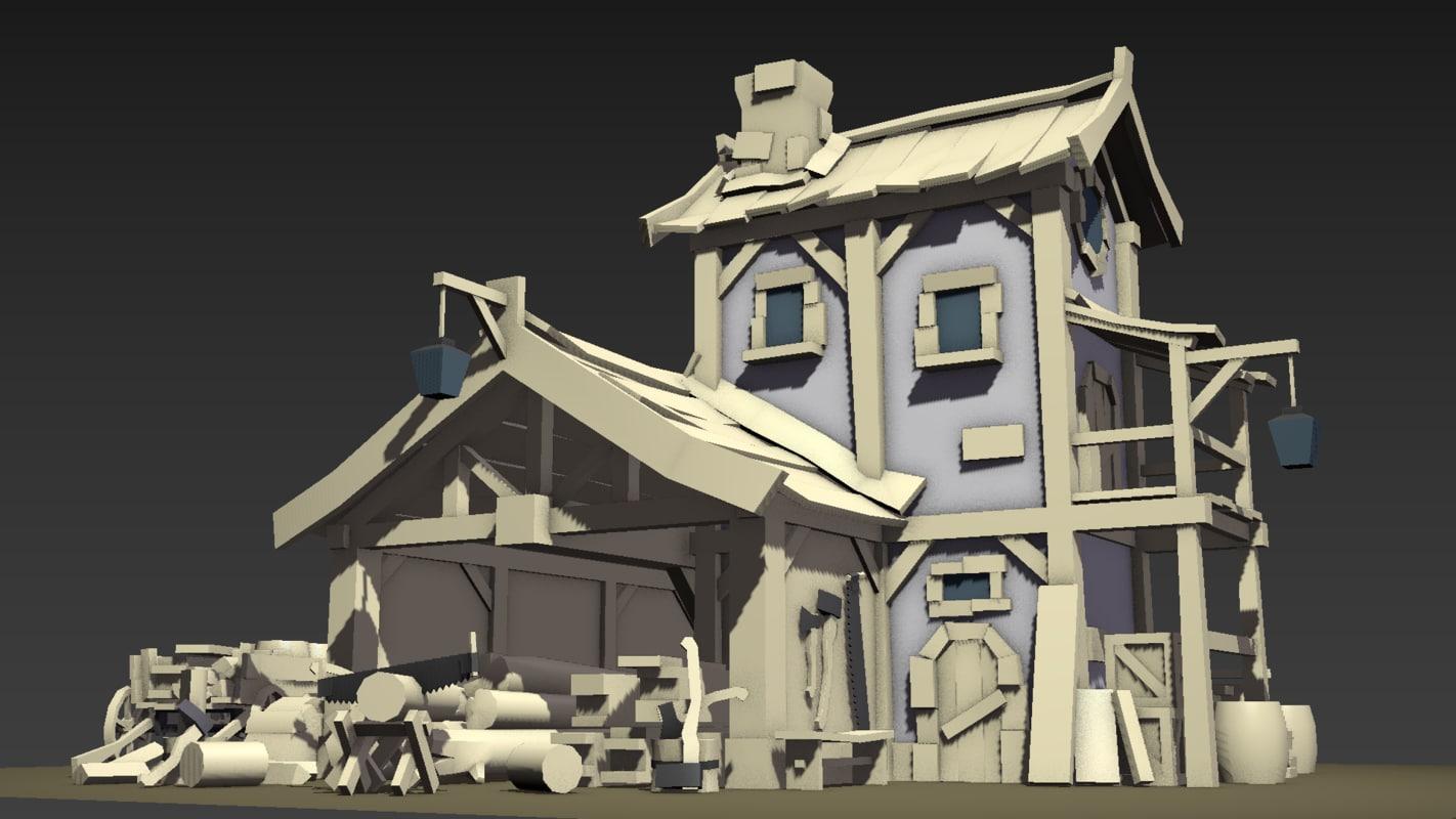 3D medieval structure bulding