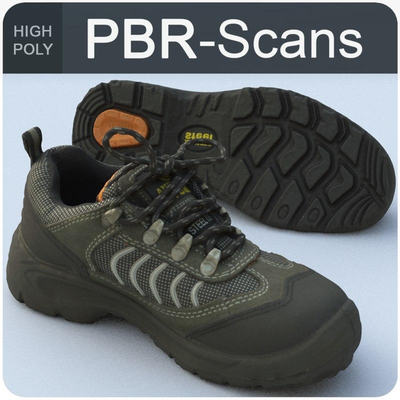 sneaker pbr scans model