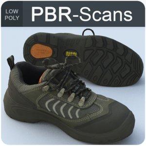 sneaker scans polygonal 3D model