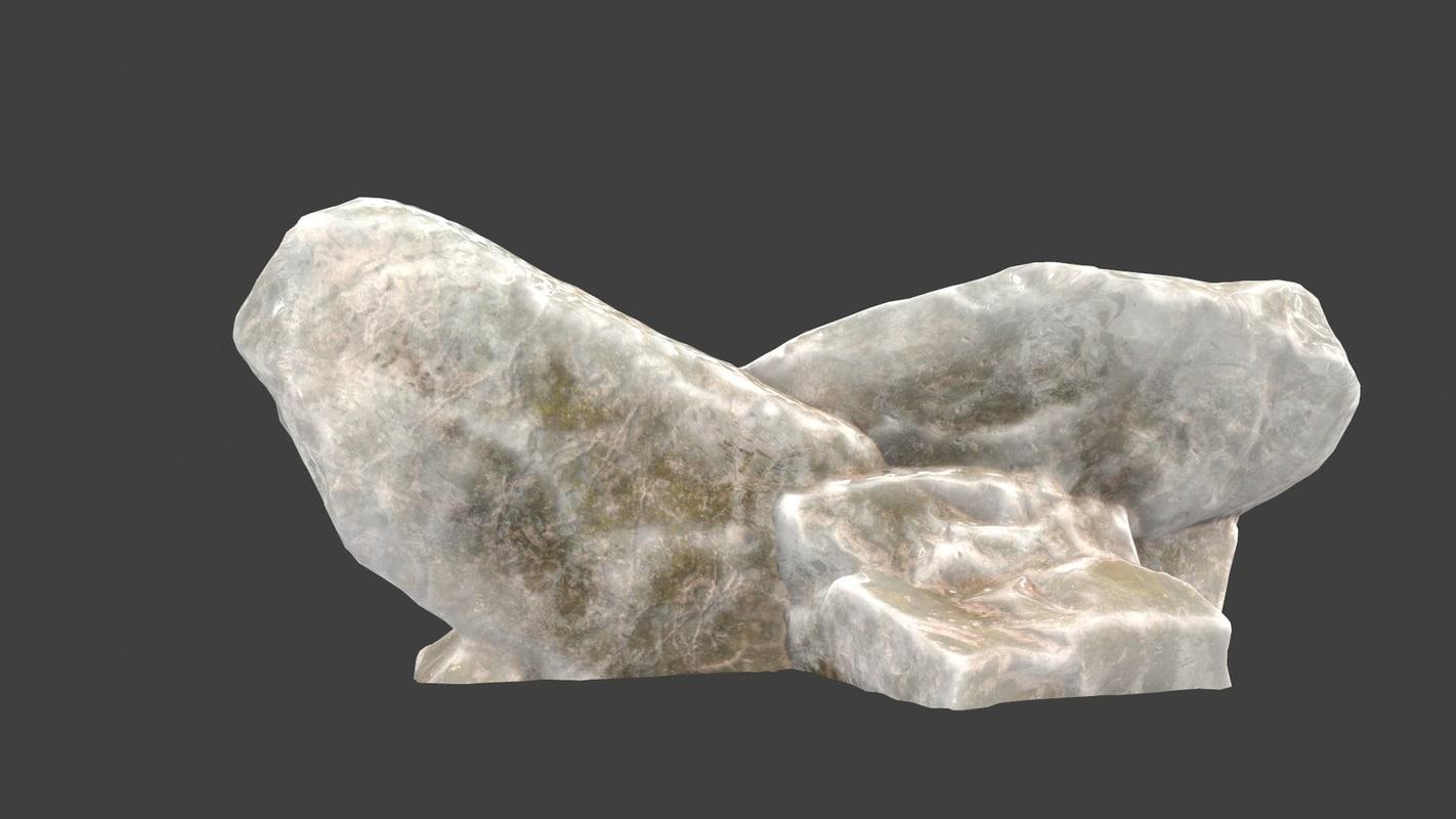 ice rocks 3D model