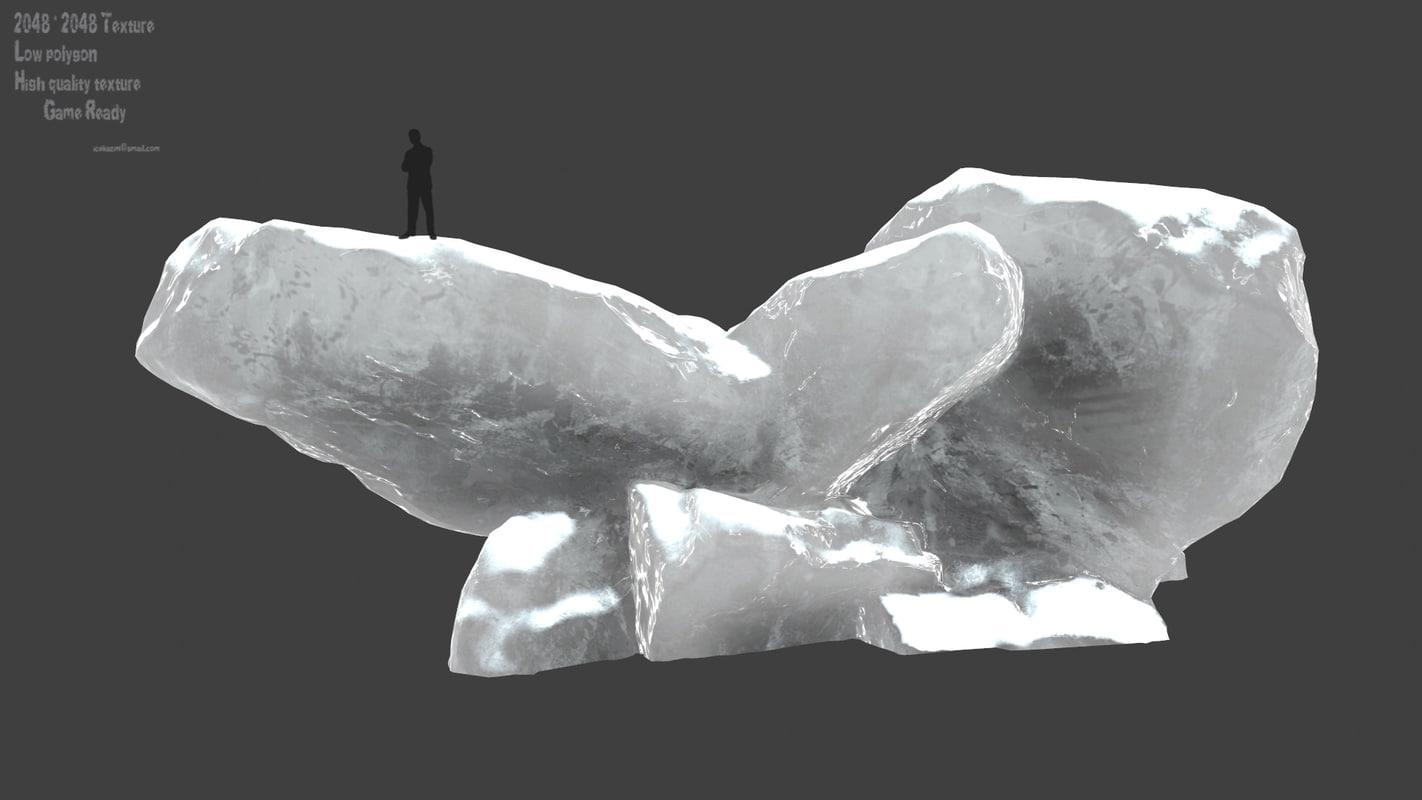 ice rocks 3D