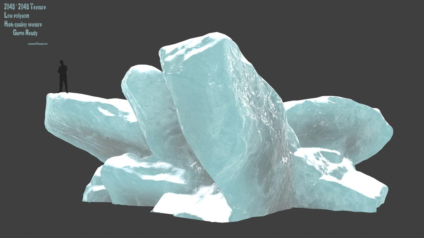 3D ice rocks model
