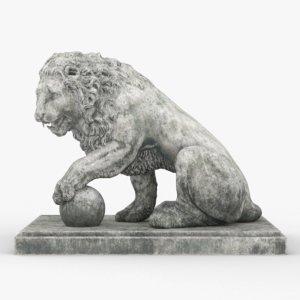 lion concrete 3D model