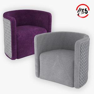 3D model community-chair armchair